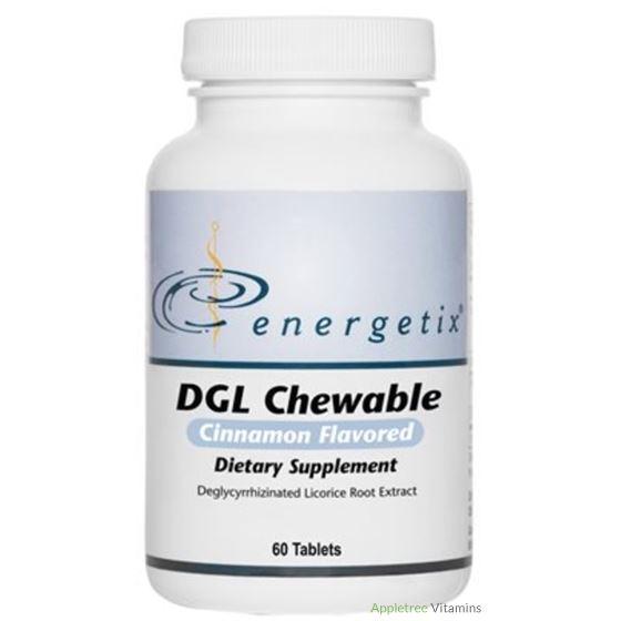 Energetix DGL Chewable Cinnamon Flavor 60 Tablets