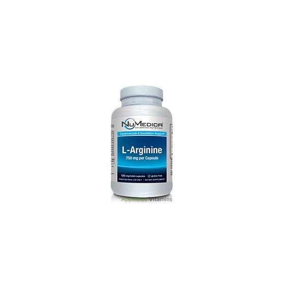 L-Arginine 750 mg - 120 Vegetable Capsules