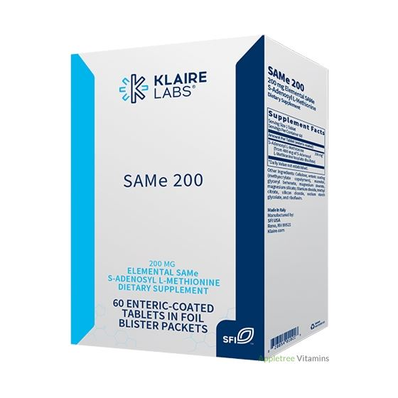 Klaire Labs SAMe 200 - 60 Tablets