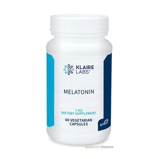 Klaire Labs Melatonin (3 mg) - 60 Vegetarian Capsu